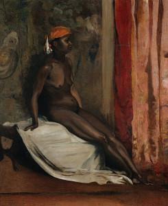 Image : Henri Regnault - Assis femme africaine
